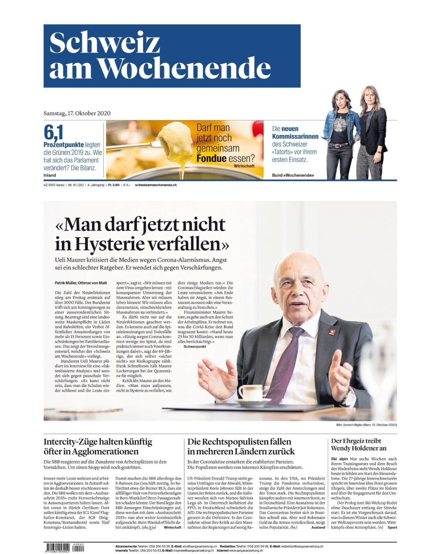 Schweizer Bundesrat Ueli Maurer ist der Meinung: